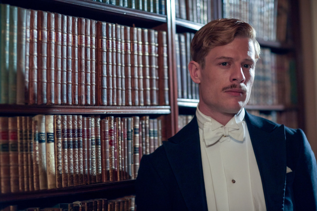 WARNING: Embargoed for publication until 29/08/2015 - Programme Name: Lady Chatterley's Lover - TX: 06/09/2015 - Episode: LCL - Unit Stills (No. n/a) - Picture Shows: Clifford Chatterley (JAMES NORTON) - (C) HARTSWOOD FILMS - Photographer: ROBERT VIGLASKY
