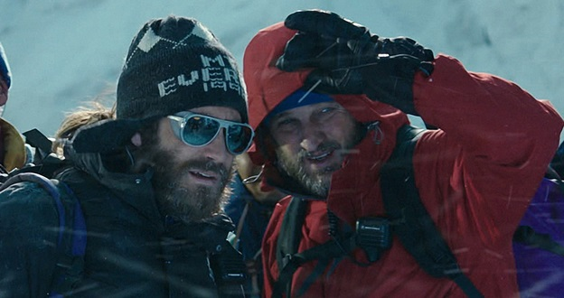 (L to R) Scott Fischer (JAKE GYLLENHAAL) and Rob Hall (JASON CLARKE) in ?Everest?. Inspired by the incredible events surrounding an attempt to reach the summit of the world?s highest mountain, ?Everest? documents the awe-inspiring journey of two different expeditions challenged beyond their limits by one of the fiercest snowstorms ever encountered by mankind.