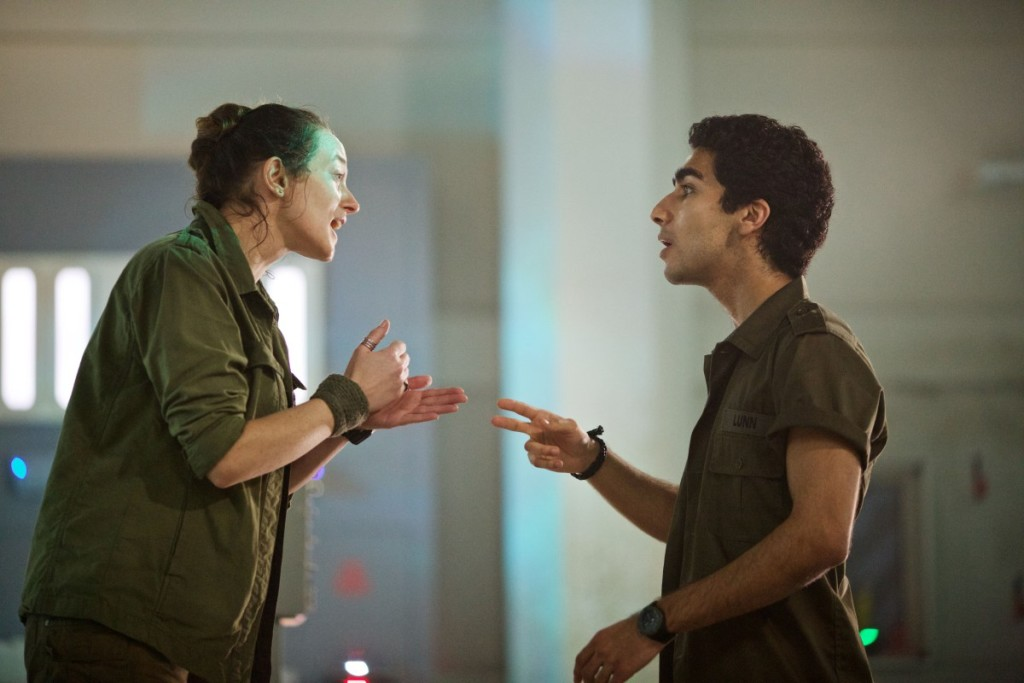 Picture shows: Sophie Stone as Cass and Zaqi Ismail as Lunn