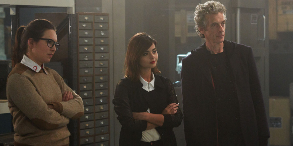 Ingrid-Oliver-Jenna-Coleman-and-Peter-Capaldi-in-Doctor-Who-Season-9-Episode-8
