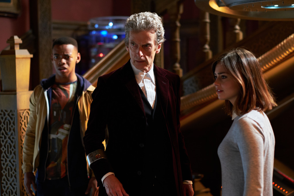 WARNING: Embargoed for publication until 00:00:01 on 17/11/2015 - Programme Name: Doctor Who - TX: 21/11/2015 - Episode: FACE THE RAVEN (By Sarah Dollard) (No. 10) - Picture Shows: ***EMBARGOED UNTIL 17th NOV 2015*** Rigsy (JOIVAN WADE), Doctor Who (PETER CAPALDI), Clara (JENNA COLEMAN) - (C) BBC - Photographer: Simon Ridgway