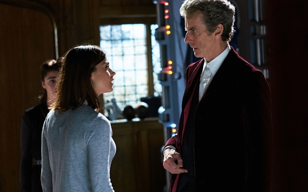 WARNING: Embargoed for publication until 00:00:01 on 17/11/2015 - Programme Name: Doctor Who - TX: 21/11/2015 - Episode: FACE THE RAVEN (By Sarah Dollard) (No. 10) - Picture Shows: ***EMBARGOED UNTIL 17th NOV 2015*** Ashildr (MAISIE WILLIAMS), Clara (JENNA COLEMAN), Doctor Who (PETER CAPALDI) - (C) BBC - Photographer: Simon Ridgway