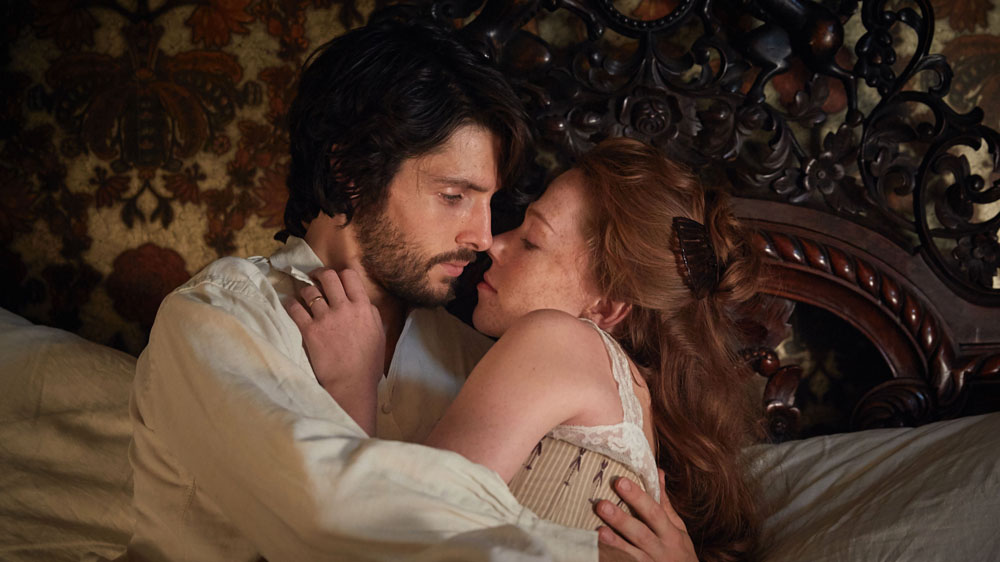 WARNING: Embargoed for publication until 00:00:01 on 25/05/2016 - Programme Name: The Living and the Dead - TX: n/a - Episode: n/a (No. 1) - Picture Shows:  Nathan Appleby (COLIN MORGAN), Charlotte Appleby (CHARLOTTE SPENCER) - (C) BBC - Photographer: Robert Viglasky