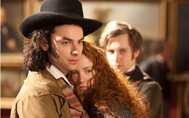 DESPERATE ROMANTICS...** Embargoed for publication until Tuesday 21st July 2009 ** Picture shows: (l-r) AIDAN TURNER as Dante Gabriel Rossetti, AMY MANSON as Lizzie Siddal, SAM CRANE as Fred Walters. Episode 2 TX: BBC TWO TBC
