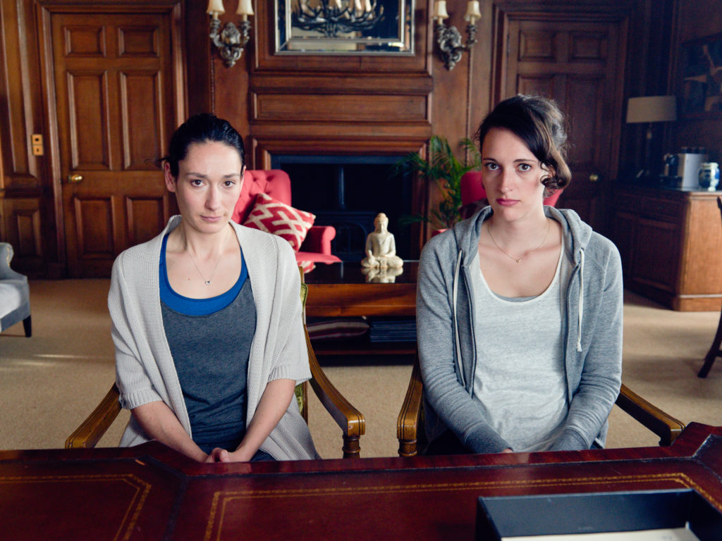 Programme Name: Fleabag - TX: n/a - Episode: n/a (No. 4) - Picture Shows: L-R Claire (SIAN CLIFFORD), Fleabag (PHOEBE WALLER-BRIDGE) - (C) Two Brothers Pictures Ltd. - Photographer: Hal Shinnie