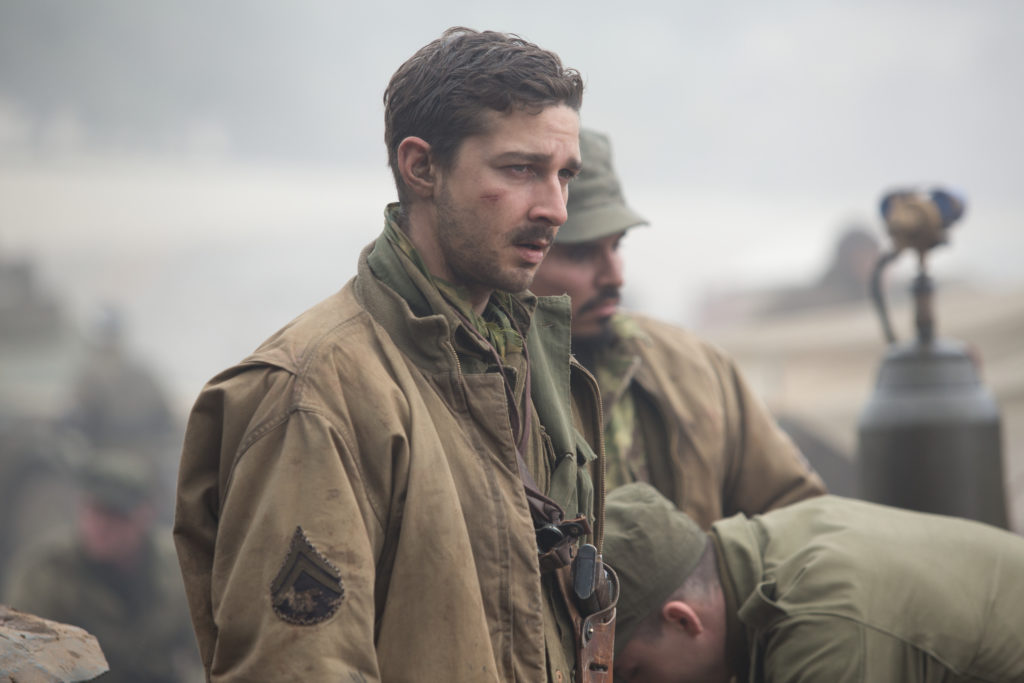 "Boyd ""Bible"" Swan (Shia LaBeouf) in Columbia Pictures' FURY."